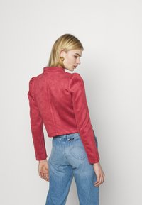 ONLY - ONLSHELBY CROP BONDED JACKET  - Giacca in similpelle - baroque rose - 2