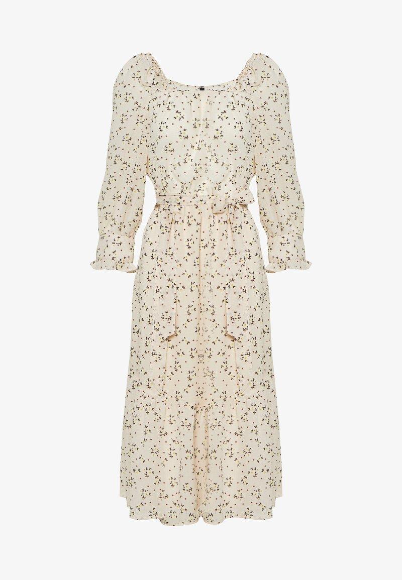 YAS - YASFAUSTA MIDI DRESS - Košilové šaty - star white/fausta