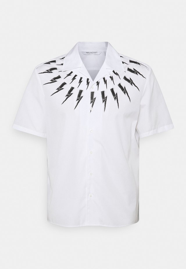 THUNDERBOLT PRINT HAWAIIAN - Camicia - white/black