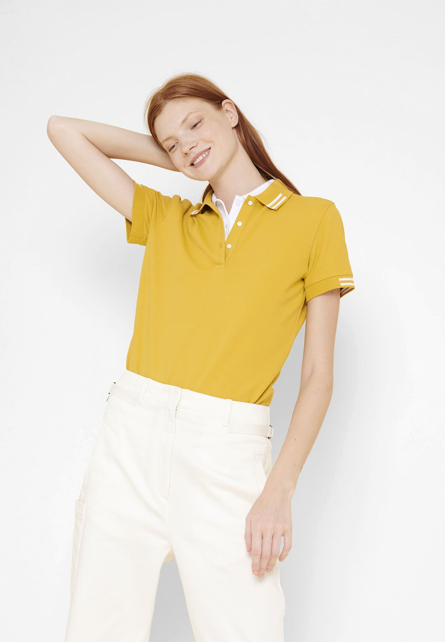 Aigle ROSIPOLO - Polo - yellow - Tops & T-shirts Femme 8N4Q3