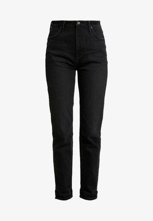 MOM  - Jeansy Straight Leg - black worn