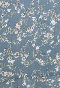 Missguided Plus - PLUS FLORAL V NECK TIE WAIST DRESS - Day dress - blue - 2
