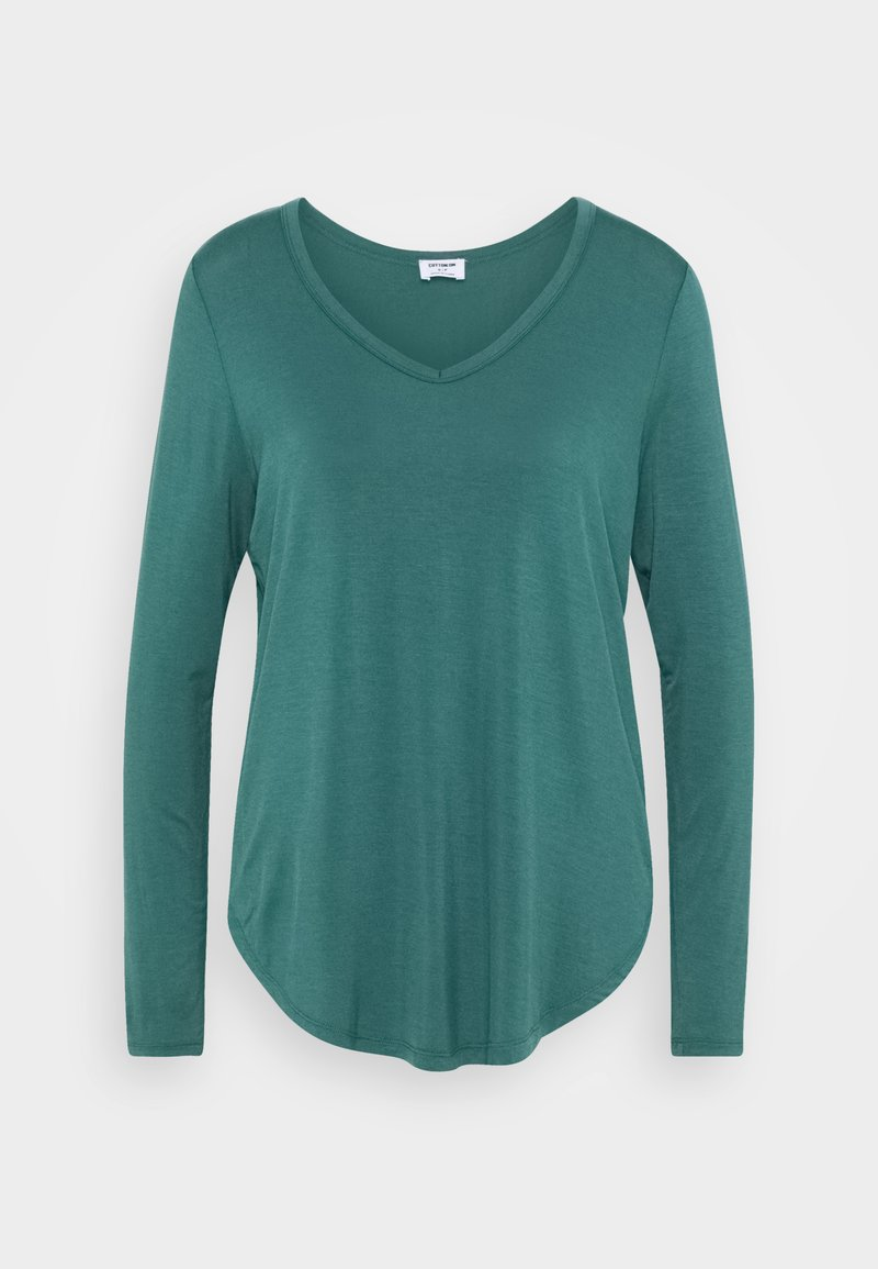 Cotton On - KARLY LONG SLEEVE  - Long sleeved top - winter green