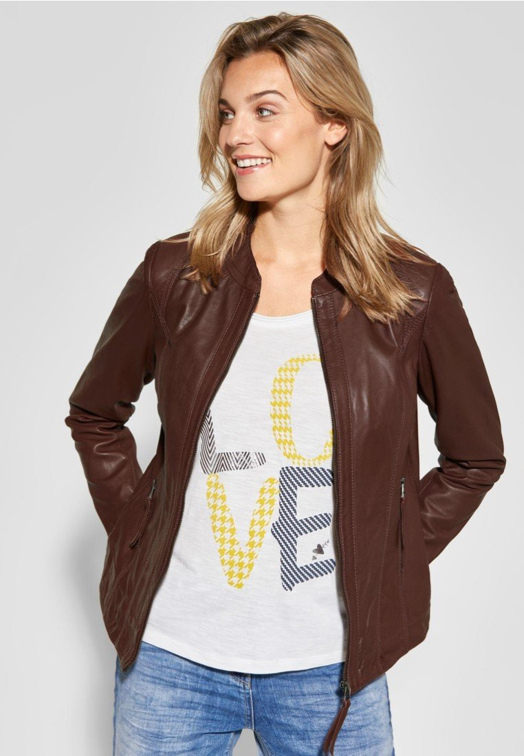 Cecil - Leather jacket - brown
