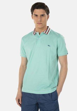 POLO IN COTONE CON COLLO JACQUARD - Polo shirt - verde screziato