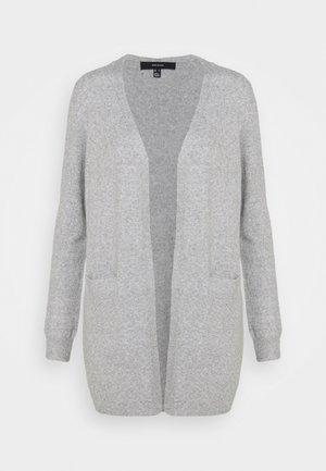 VMDOFFY SHORT OPEN - Cardigan - light grey melange