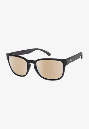REKIEM  - Sunglasses - matte black/flash silver