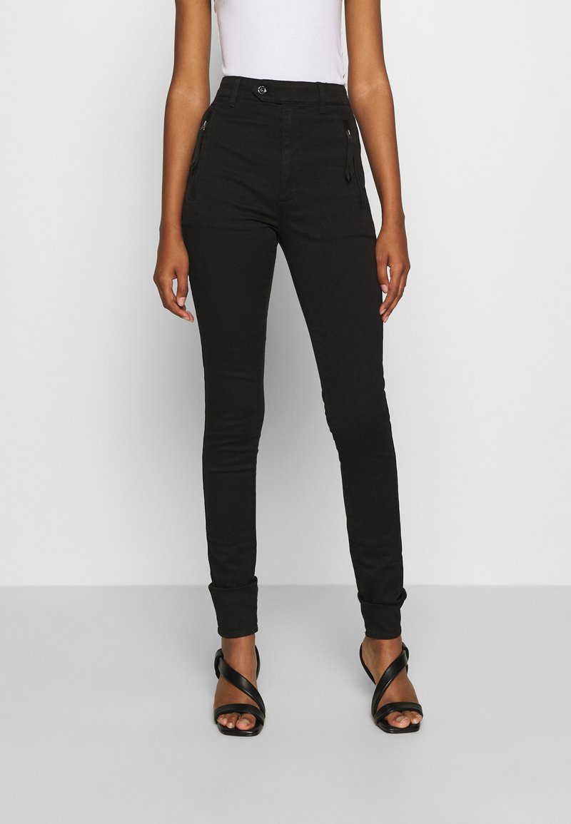 G-Star - WELD HIGH SLIM  - Jeans Skinny Fit - black