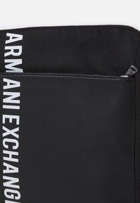 Armani Exchange - MIX CONTRAST CROSS BODY BAG UNISEX - Across body bag - black/white - 3