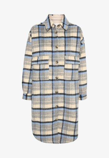 Classic coat - silver lake blue check