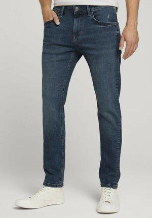 TROY  - Slim fit jeans - random bleached  blue denim