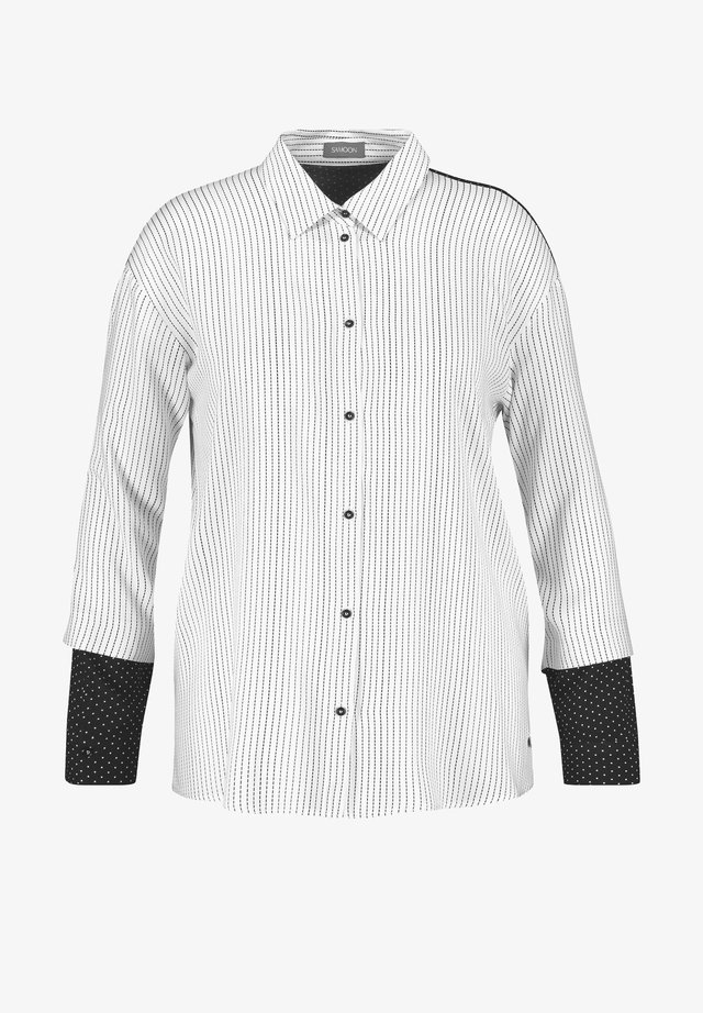 Button-down blouse - offwhite gemustert