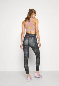 Even&Odd active - Leggings - black/rose/multicoloured - 2
