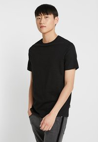 Burton Menswear London - BASIC CREW 3 PACK MULTIPACK - T-shirt basic - black/grey/white - 4