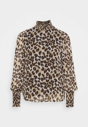 VMNANA HIGH NECK BLOUSE - Long sleeved top - silver mink