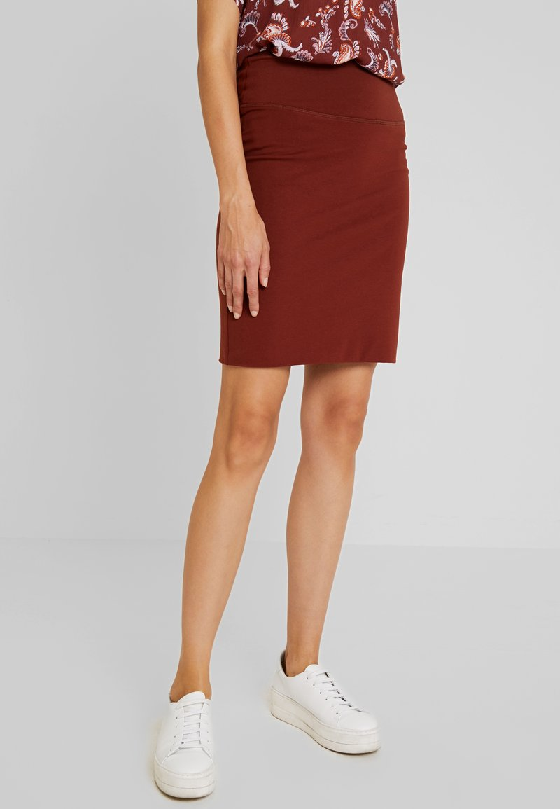 Kaffe - PENNY SKIRT - Pencil skirt - cherry mahogany