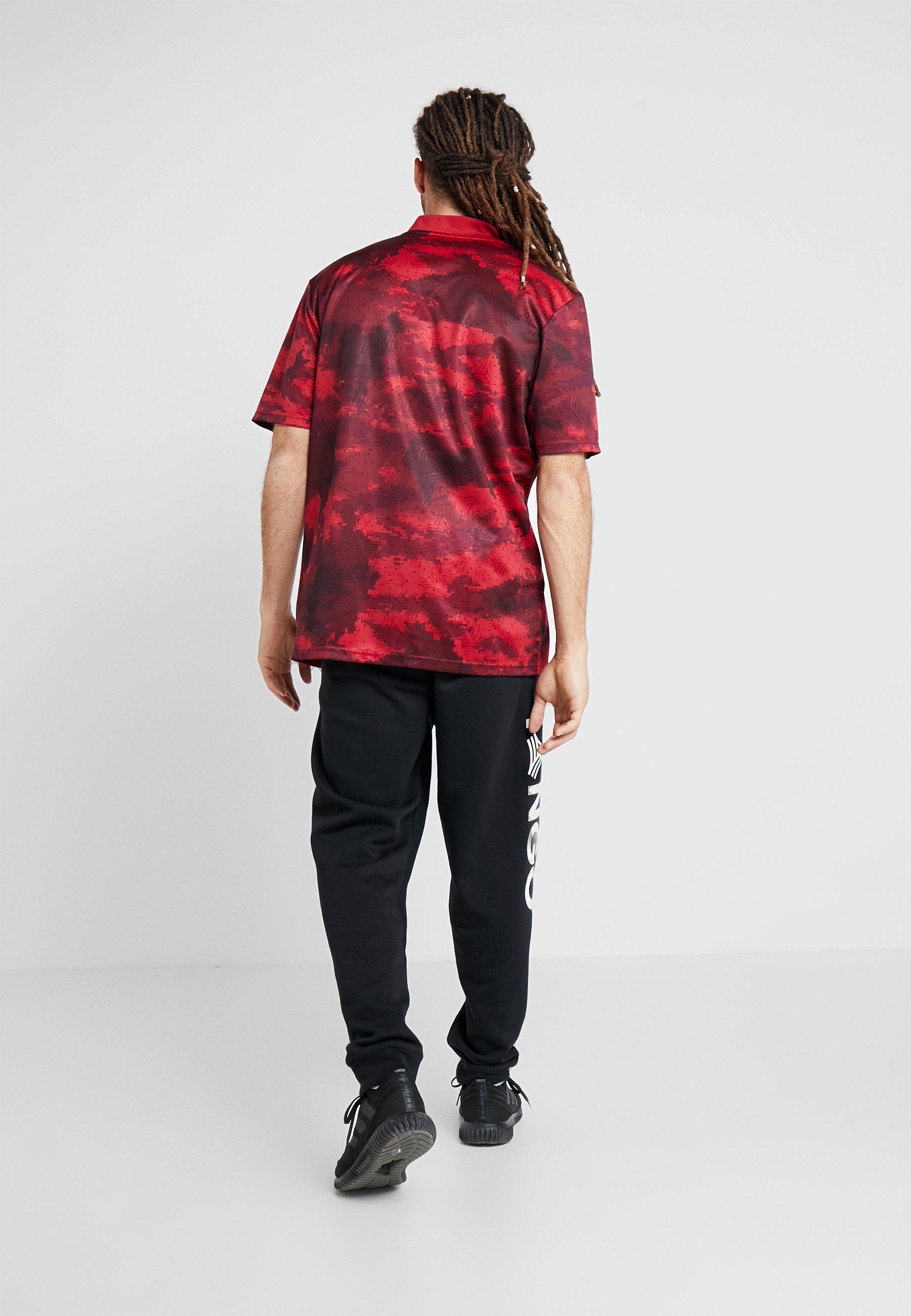 Adidas Performance Tan - T-shirt Z Nadrukiem Bordeaux