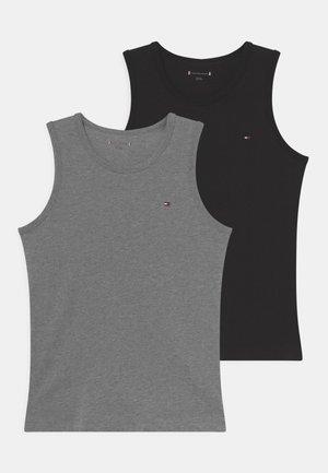 2 PACK - Hemd - medium grey/black