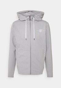 SIKSILK - DUAL STRIPE AGILITY ZIP THROUGH HOODIE - Mikina na zip - grey/white - 3