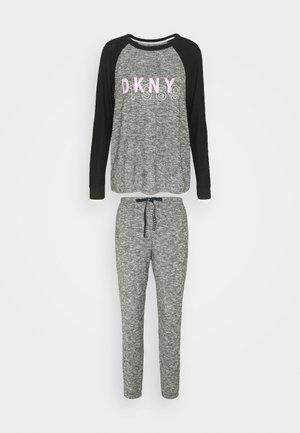 SET - Pyjama set - black marled