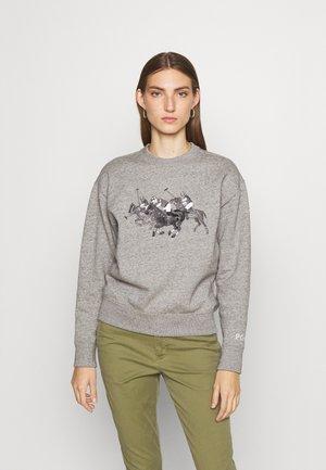 HEARD LONG SLEEVE - Sweatshirt - dark vintage heather