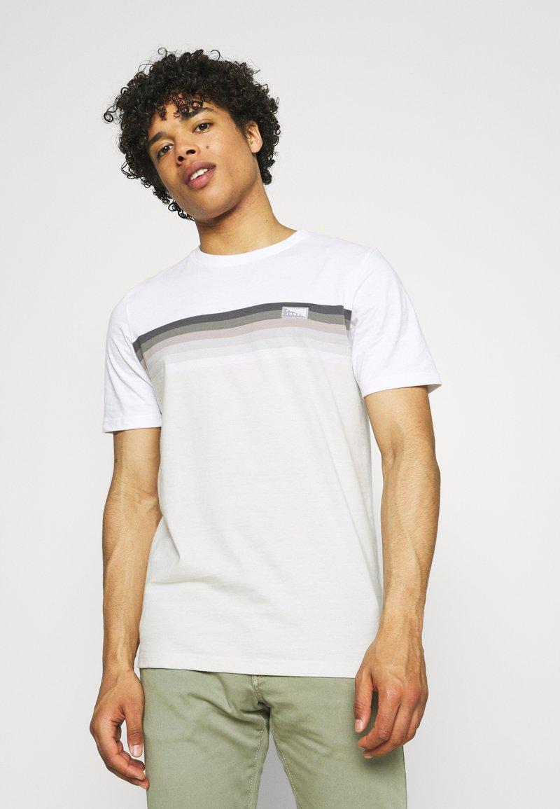 Jack & Jones - JCOMIRKU TEE SS CREW NECK - T-shirt z nadrukiem - white