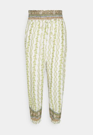 OLINA PANT - Pantalon classique - green stripe wallpaper