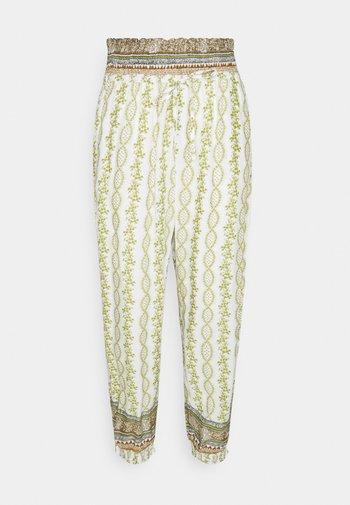 OLINA PANT - Trousers - green stripe wallpaper