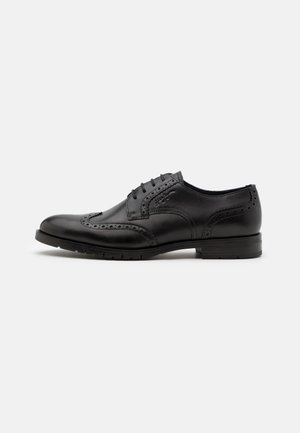 BROGUE LACE UP SHOE - Oksfordki - dark ash