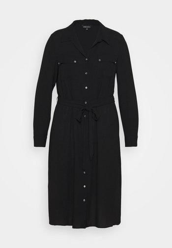 UTILITY MIDI DRESS - Skjortklänning - black