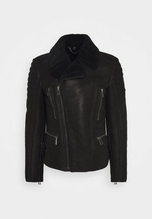 FRASER JACKET - Leather jacket - black