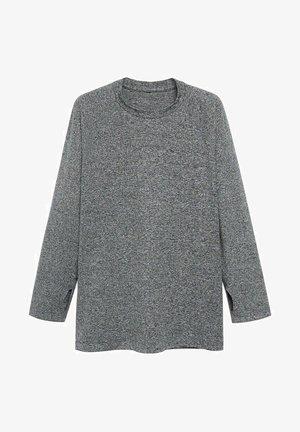 MUNICH - Pitkähihainen paita - mittelgrau meliert