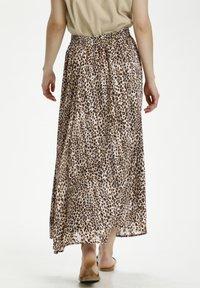 Kaffe - Pleated skirt - brown leo print gold lurex - 2