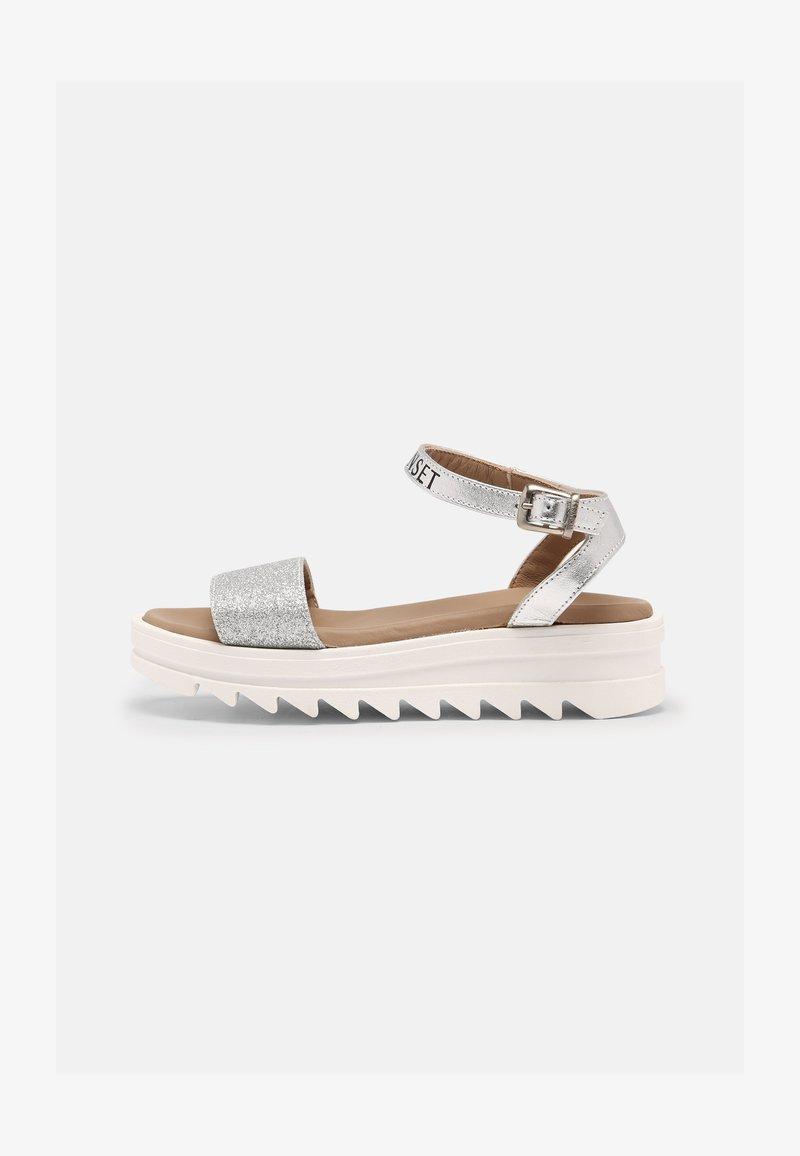 TWINSET - GLITTER - Sandals - argento
