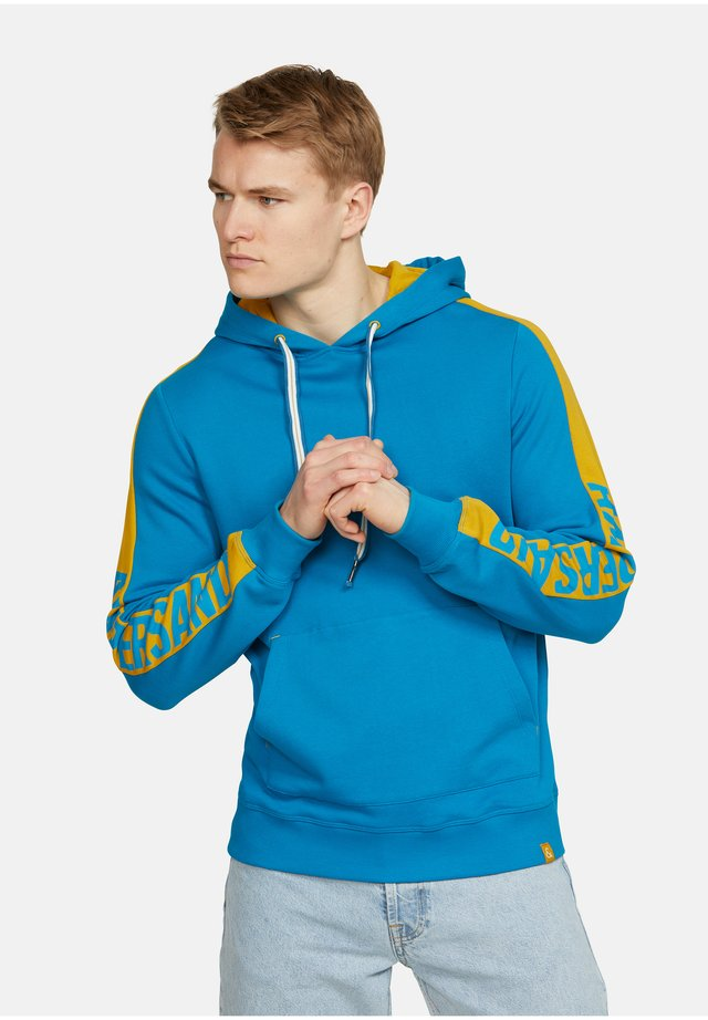 FABIAN - Felpa con cappuccio - bleu turquoise