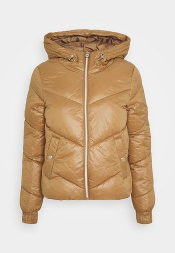 ONLHOLLY HOODED PUFFER JACKET - Light jacket - toasted coconut