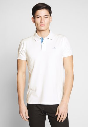 CONTRAST COLLAR RUGGER - Polo shirt - eggshell