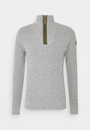 HALF STITCH TROYER - Jumper - grey heather melange