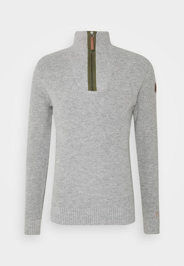 HALF STITCH TROYER - Maglione - grey heather melange