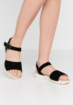 LEATHER - Sandals - black
