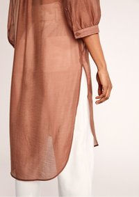 comma - Button-down blouse - burnt sienna - 5