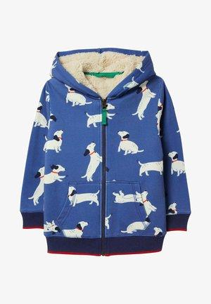 Zip-up hoodie - venedig-blau, dackel