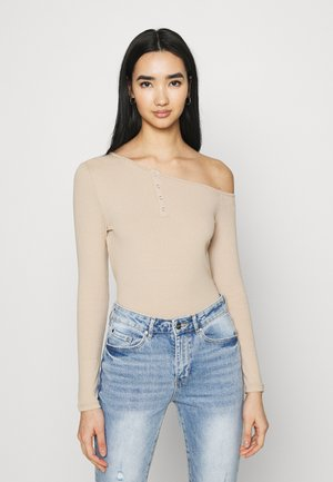 ELLIE TIPPED SHOULDER - Long sleeved top - camel