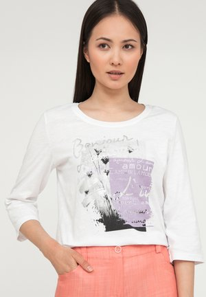 MIT FRONT-PRINT - Long sleeved top - white