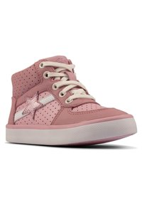 Clarks - CITY FLAKE TODDLER - Lace-up ankle boots - pink - 1