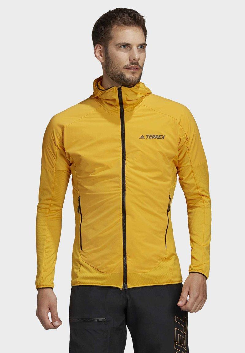 adidas Performance - TERREX SKYCLIMB FLEECE JACKET - Fleece jacket - yellow
