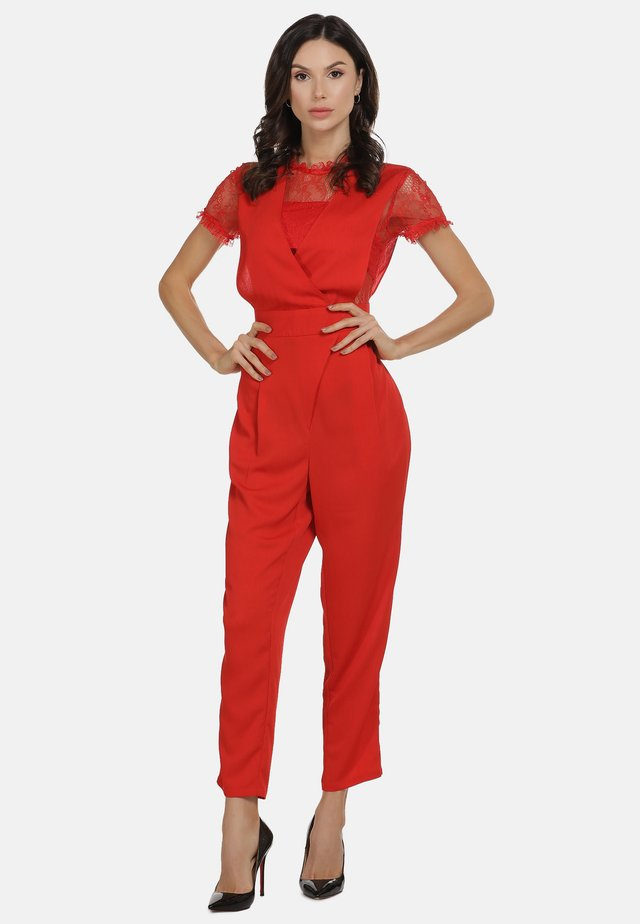 Overall / Jumpsuit /Buksedragter - rot