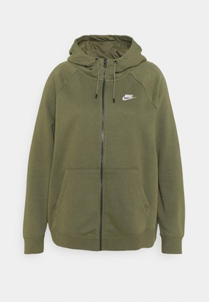 HOODY PLUS - Zip-up sweatshirt - medium olive/white