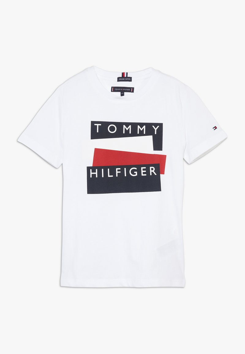 Tommy Hilfiger - STICKER TEE  - T-Shirt print - white