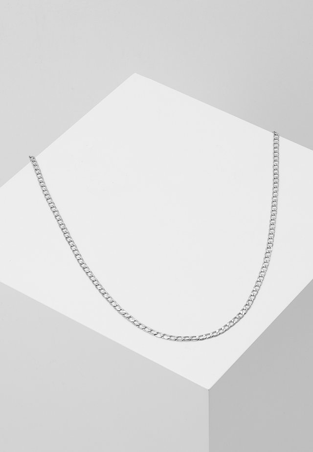 FLAT OUT CHAIN NECKLACE - Halskæder - silver-coloured